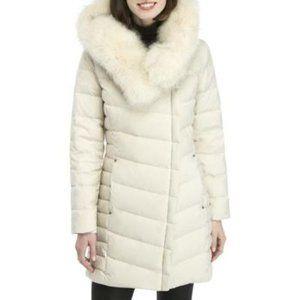 Bernardo Puffer Coat with Faux Fur Hood NWOT